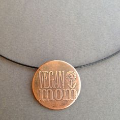 Copper Etched Necklace - Vegan mom