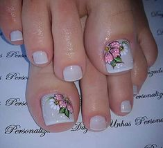 - All For Hair Color Trending Pretty Toe Nails, Cute Toe Nails, Cute Nail Art, Pedicure Nail Art, Nail Manicure, Feet Nail Design, Toenail Art Designs, Summer Toe Nails, Pretty Nail Designs