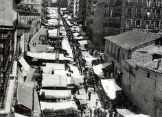 Foto de 1941 del rastro de Madrid
