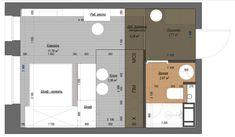 Дизайн квартиры-студии: 80 трендов для создания современного и мультифункционального интерьера http://happymodern.ru/dizajn-proekt-kvartiry-studii/ Общий план и дизайн-проект квартиры-студии в синих тонах Смотри больше http://happymodern.ru/dizajn-proekt-kvartiry-studii/