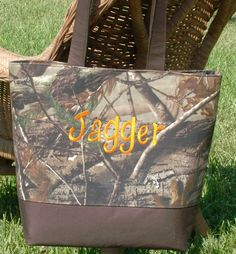 Hey, I found this really awesome Etsy listing at https://www.etsy.com/listing/68946363/personalized-camo-diaper-bag