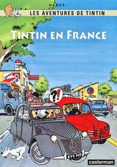 Tintin en Francia - Citroen 2CV y Renault 4CV