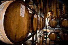 The sacred wombs of Spring44's single barrel and straight bourbon whiskey... pre-blending and pre-bottling - the raw goods.