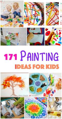 171 painting ideas for kids. this is the final round up of the 2015 Paint-A-Thon at Emma Owl