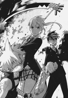 Maaka, Death the Kid and Black Star #SoulEater