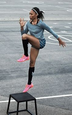 My favorite sprinter.. Allyson Felix