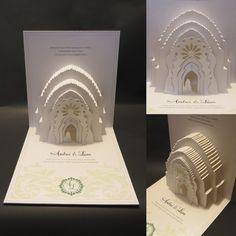 Cartões de casamento originais em papel moldado de Olga Cuzuioc