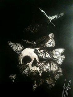 Skull & Butterflies