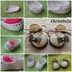 DIY Crochet Baby Booties with Ribbon Tie