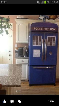 Doctor Who fridge I want this fridge . I'm gonna make sure I marry a guy that is into doctor who and we will have this fridge The Tardis, Tardis Blue, Doctor Who, Diy Doctor, Eleventh Doctor, Objet Wtf, Cool Stuff, Stuff To Buy, Random Stuff