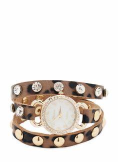 embellished wrap around watch
