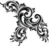 Vector - Designed by a hand engraver, this carefully drawn and highly detailed intertwining scrollwork can be used a number of ways. Easily change the scroll colors. Scale to any size without loss of. Baroque Design, Baroque Art, Filigree Design, Baroque Tattoo, Filigree Tattoo, Side Tattoos, Hand Tattoos, Tatoo 3d, Molduras Vintage