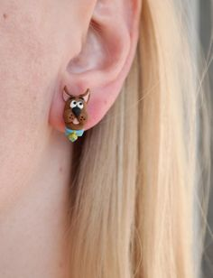Scooby Doo Tiny Cute Stud Earrings