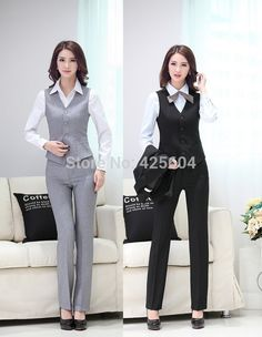 2018 Formal Uniform Design Pantsuits Female Blazers Suits Jackets And Pants  For Ladies 2015 Summer Business Women Office Trousers Set From Red2015 7a5edfbc08c4
