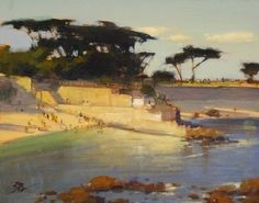 Lover's Point by Brian Blood Oil ~ 11 x 14