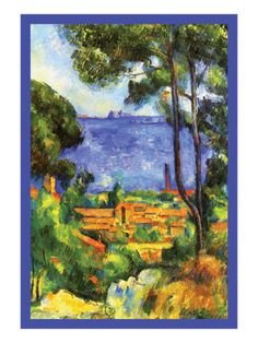 A View Through the Trees Of Premium Poster by Paul Cézanne at Art.com