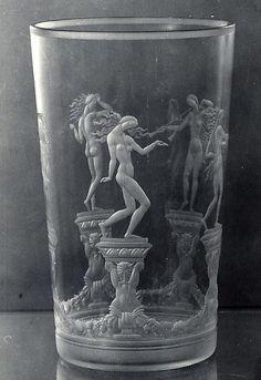 Vase  Designer:Simon Gate (Swedish, Södra Fägeläs 1883–1945 Orrefors) Manufacturer:Orrefors Glasbruk Date:1922–27 Medium:Glass Dimensions:H. 7, Diam. 4-1/8 in. (17.8 x 10.5 cm.) Classification:Glass