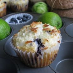 Blueberry Lime Coconut Muffin - look like they would melt in my mouth
