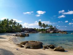 """1. BANGKA - BELITUNG ISLANDS. Lies on the the western part of Indonesia, Bangka and Belitung Islands located just in the east coast of Sumatra. Pictured above is Parai Tenggiri Beach in Bangka Island. The word bangka derives from 'wangka' which means """"tin"""" as the island is one of the major contributors of the world's production."""