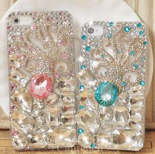 Gorgeous 3D Handmade Bling Octopus Crystal Diamond Case Cover For iPhone 4 4S 5