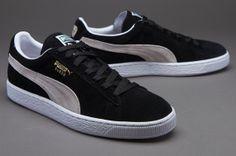 3897914fbf32cf Puma Suede Classic Eco Mens Shoes - Black-White Puma Suede