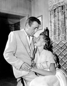 Humprey Bogart and Lauren Bacall