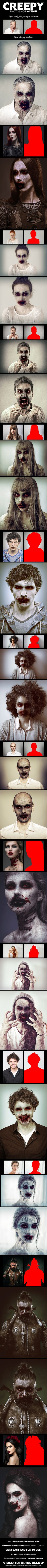 #Creepy #Photoshop Action - #Photo Effects Actions
