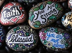 Inspirational Painted Rocks by GreaterJoy on Etsy