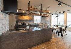 Julie's Kitchen, Kitchen Sets, Living Room Kitchen, Kitchen Interior, Kitchen Storage, Condo Design, Küchen Design, House Design, Industrial Kitchen Design