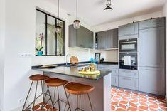 Une meulière de 80 m2 rénovée, JUNE - Côté Maison | Home-kitchen ...