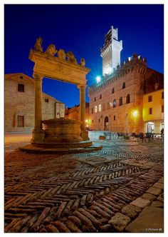 Montepulciano, Tuscany, Italy. Montepulciano is a Renaissance town in southern Tuscany.