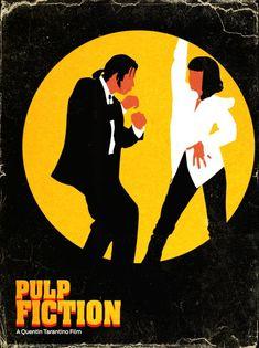 Pôster do filme Pulp Fiction - Tempos de Violência, de Quentin Tarantino. 10 filmes sobre o poder do acaso. O cinema disposto em todas as suas formas. Análises desde os clássicos até as novidades que permeiam a sétima arte. Críticas de filmes e matérias especiais todos os dias. #filme #filmes #clássico #cinema #ator #atriz