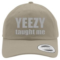 Yeezy Taught Me Embroidered Cotton Twill Hat