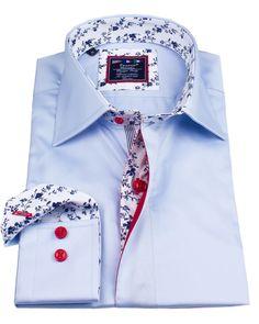 Men's designer shirts - Alberto Satin Blue | UrUNIQUE.com