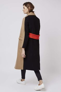 Photo 4 of Colour Block Wool Blend Coat