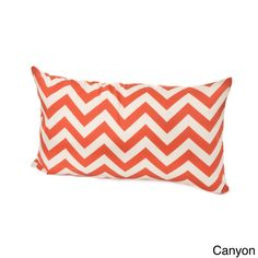 Chateau Designs Outdoor Chevron Lumbar Pillow (12 x 20) (