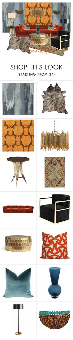 """""""Safari"""" by lorena-gallego ❤ liked on Polyvore featuring interior, interiors, interior design, home, home decor, interior decorating, Designers Guild, Natural by Lifestyle Group, Thibaut and Arteriors"""