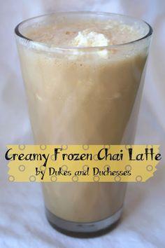 creamy frozen chai latte recipe