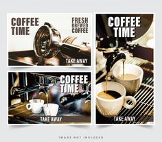 Design Restaurant Banner For Social Networks, Template For Advertising Facebook Cover Template, Coffee Pictures, Fresh Coffee, Vector Photo, Cup Design, Restaurant Design, Coffee Time, Social Networks, Vector Design