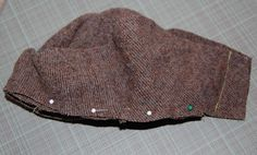 Cloche Hat Tutorial/ Not 'finished' style, but good idea for recycling old wool for felting