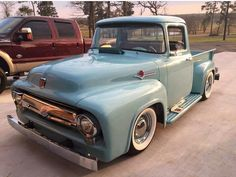 A Brief History Of Ford Trucks – Best Worst Car Insurance Ford 56, 1956 Ford Truck, 1956 Ford F100, Vintage Pickup Trucks, Classic Pickup Trucks, Old Trucks, Dodge, Mustang, F150 Truck