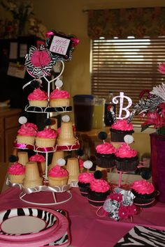 pink, black, and white party