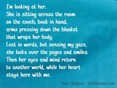 """Reading ~ from the """"Love In Blue"""" series ~ lifeinthenow.com"""