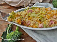 risotto zucca broccoletti e pancetta