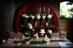 Dessert Table   Photo by Mike Danen Photography   Wedding Planning by Caitlin Arnold Weddings and Events