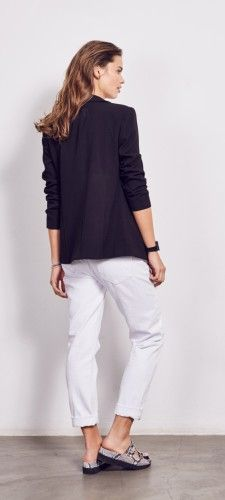 White Boyfriend Jeans - could be a kinder cut of jeans on your legs then skinnies! Roll them up, wear with wedges and a jacket ....