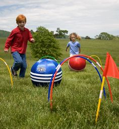 Outdoor toys for kids: Hearthsong Kick Croquet