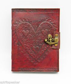 Celtic Heart Leather Journal | eBay