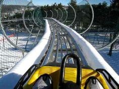 Wisp resort mountain coaster..fun!...Gotta be chilly in the snow/winter, though.......