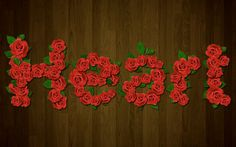 Photoshop tutorial- rose letters. Must try! Lots of good photoshop hints too.